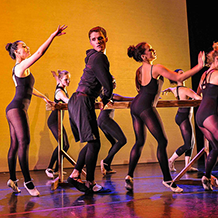 Dance performance at Carnegie Mellon University school of Drama were a male dancer intrudes upon a ballet class of female dancers.