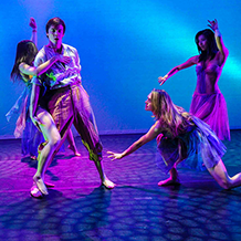 Dance performance at Carnegie Mellon University School of Drama were a male dancer is lured by beautiful mystical sirens into their trap.