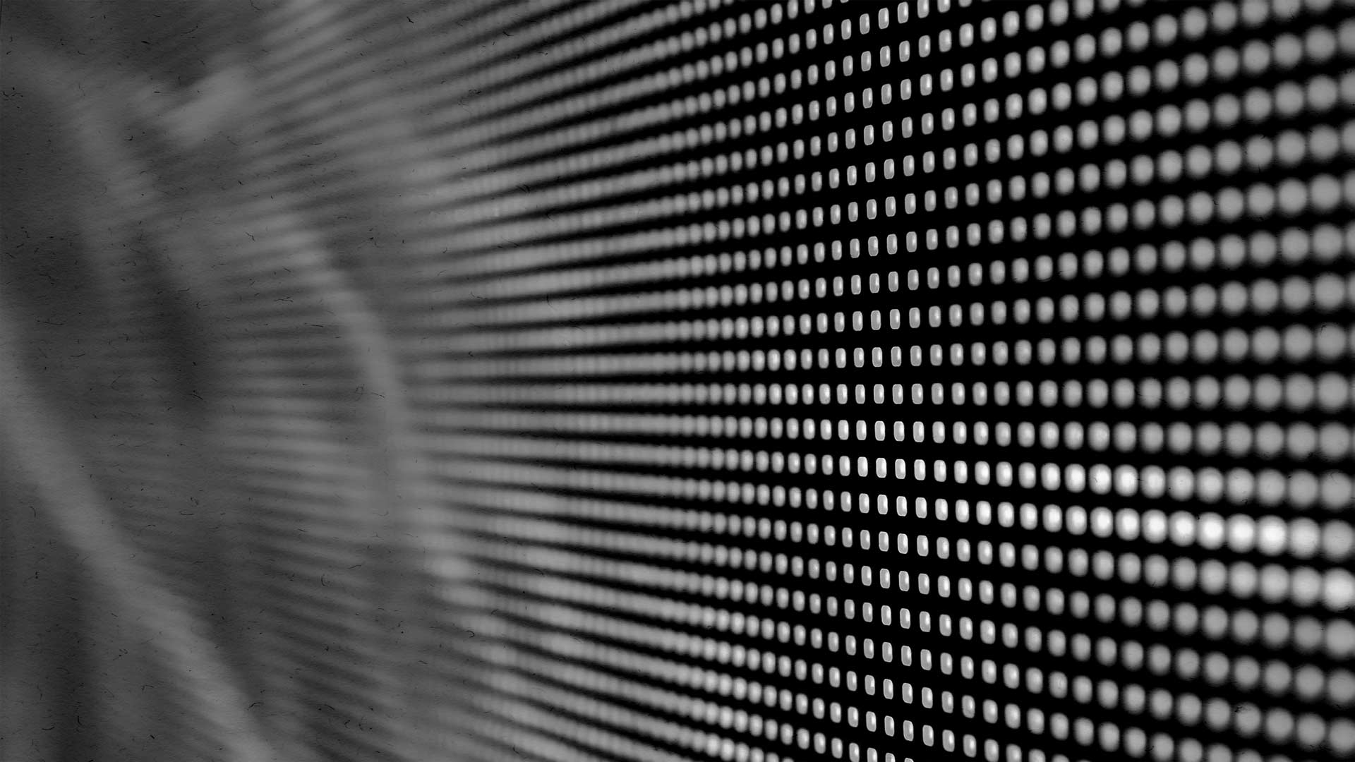 Black and White Lo-Res LED Panel Background.